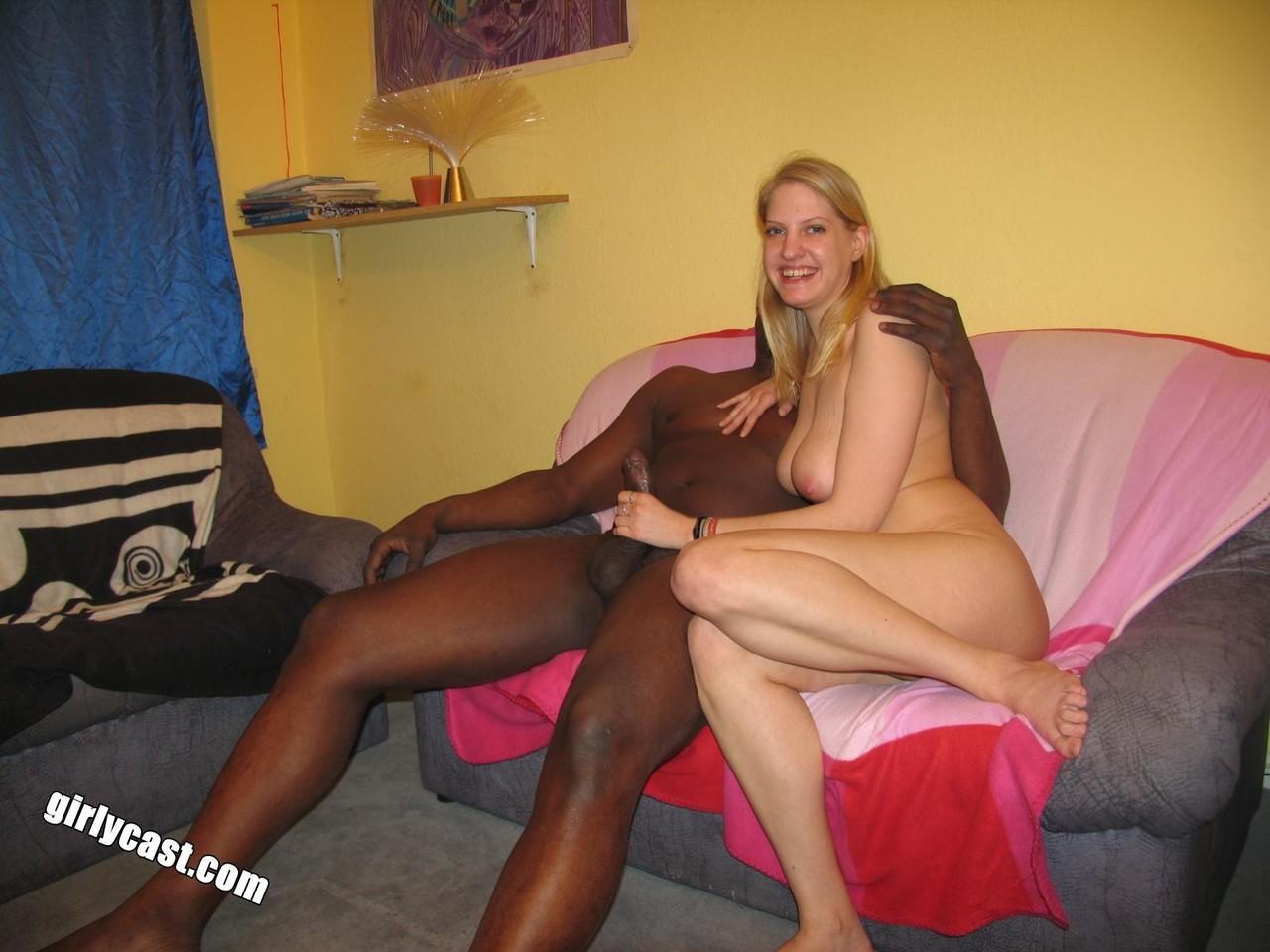 Blonde Teen First Interracial
