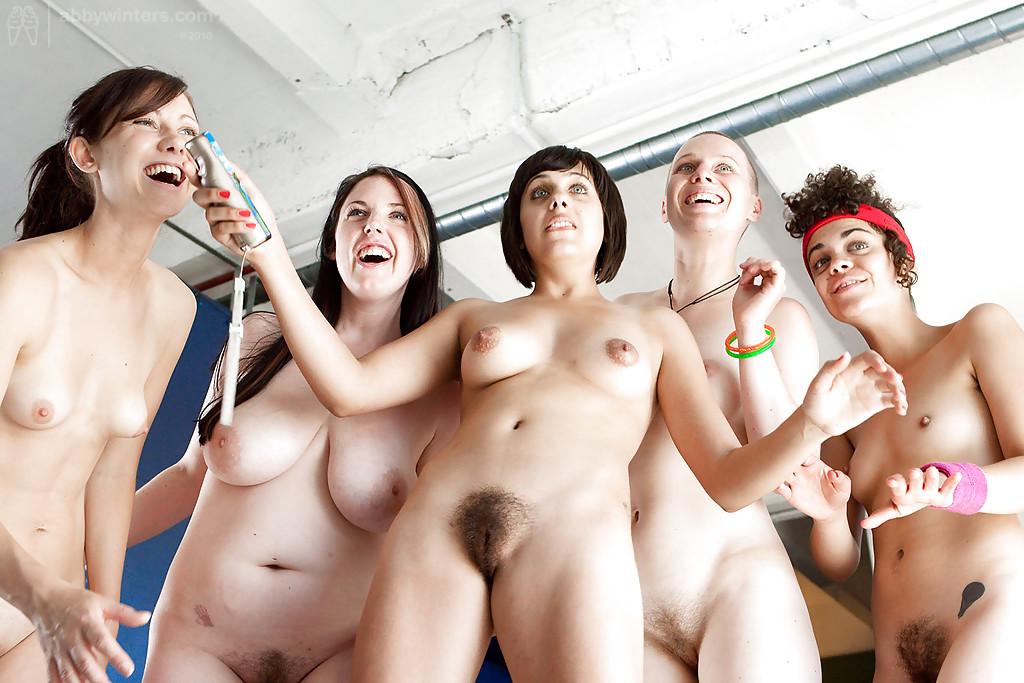Hairy Pussy Lesbian Orgy