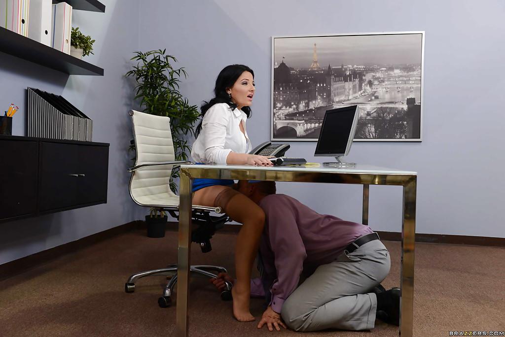 Licking Pussy Under Desk
