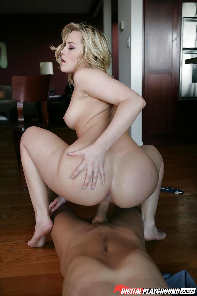 Skinny Blonde Riding Cock