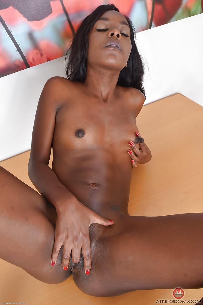 Ebony Big Tits Solo Dildo