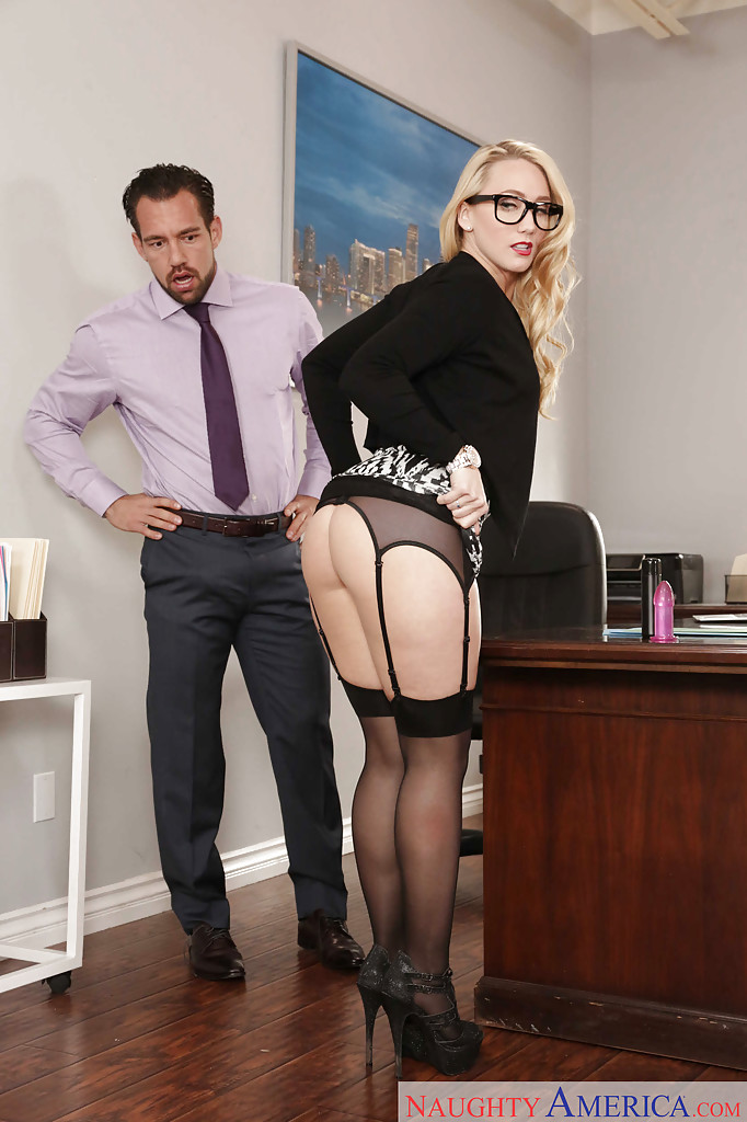 secretary having sex in office