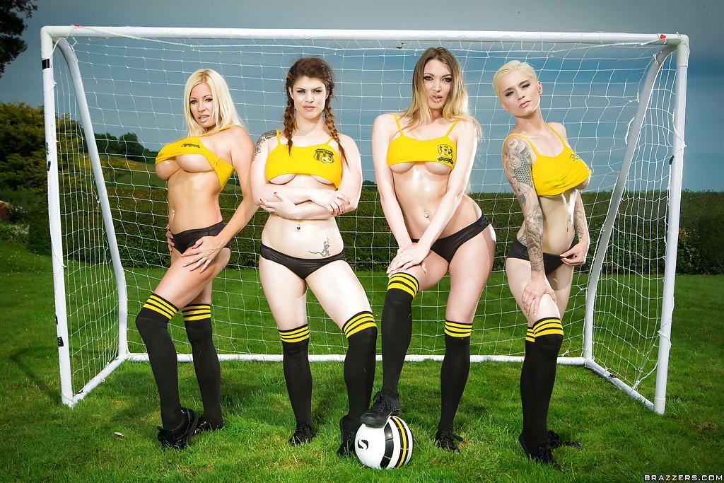 big tits team sports