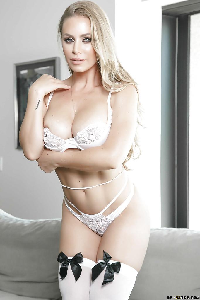 Blonde Milf Big Tits Stockings