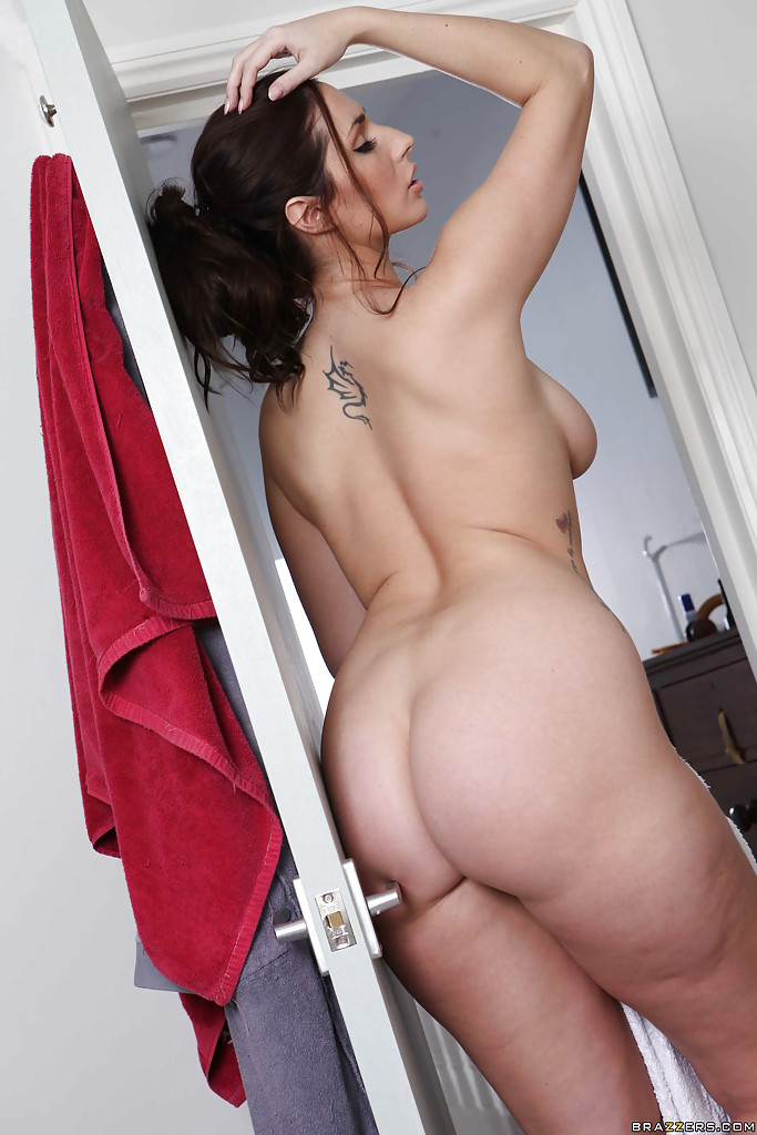 naked wife home alone