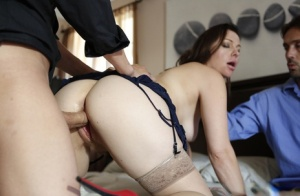 Wifey Sovereign Syre having sex with her hubby in her provocative lingerie