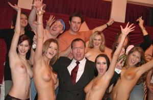 Horny chicks with sexy bodies going wild at the groupsex house party