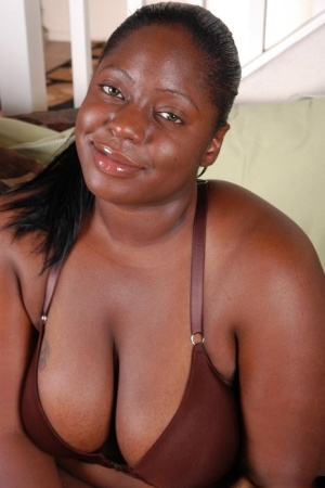 Fatty ebony Dynasty demonstrates her stunning big boobies on cam