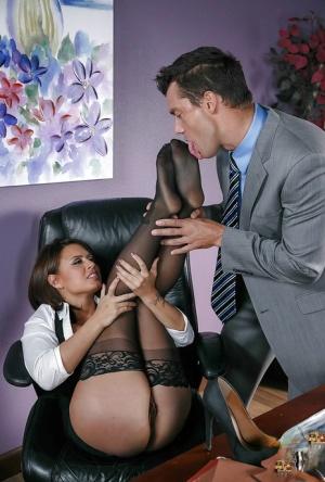 Big Tits At Work}