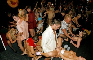Drunk party girls provide guys with plenty of pussy to fuck