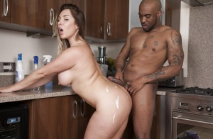 MILF Victoria Summers performing hardcore sex acts with BBC in her kitchen