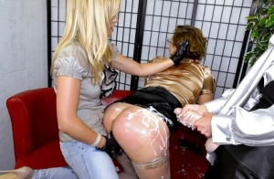 Lustful chicks are into wild lesbian action with a strapon