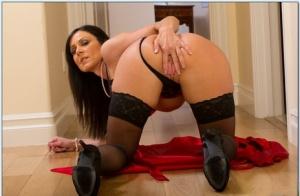 Lusty MILF in nylon stockings Kendra Lust showcasing her seductive body