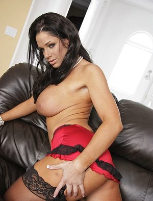 Angela Aspen enjoys a hard cock between her big tits and in her wet pussy