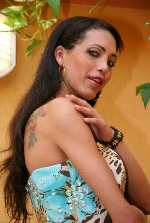 Blowjob loving Latina tranny Marcila sucking a dick dry before fucking