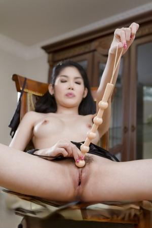 Cute skinny Asian tranny Tukta pleasuring her hot ladyboy pussy