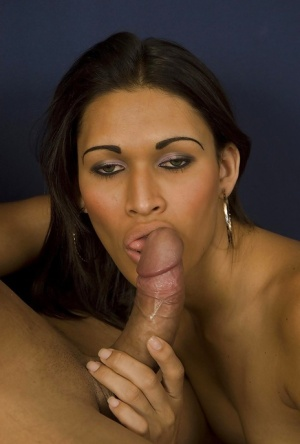 Big ass Latina shemale Renatinha giving one of her students a blowjob