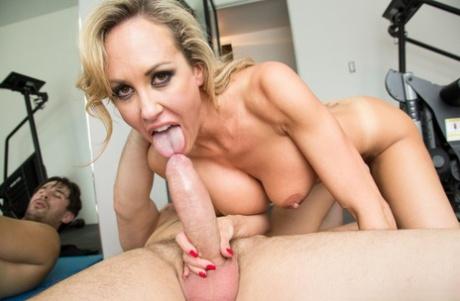 Blonde Milf Pornstar Brandi Love With Naked Big Tits Receives Mouthful Curvy Erotic 1