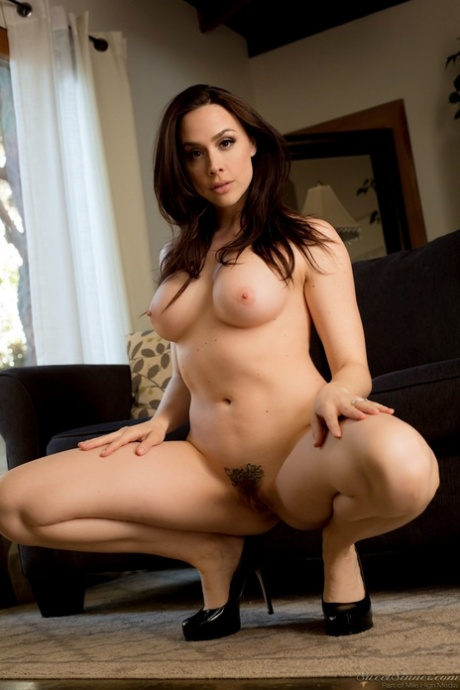 Hot couple Chanel Preston and Damon Dice fuck like mad on the furniture
