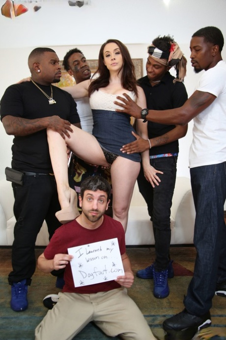Sexy wifey Chanel Preston got gangbanged in hot interracial cuckold session