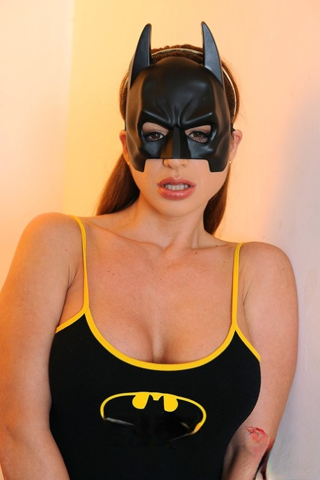 Solo girl Cathy Heaven masturbating MILF pussy in cosplay outfit and boots
