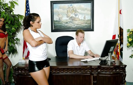 Latina pornstar Charley Chase enjoys an amazing fuck in the office