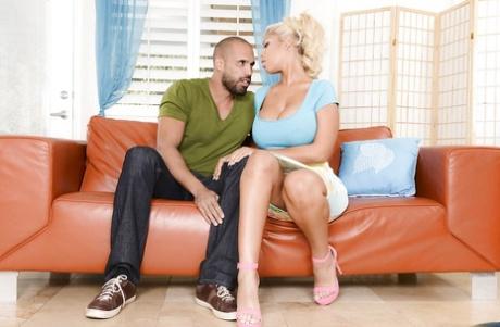 Busty blonde girlfriend Bridgette B. is being filled with jizz