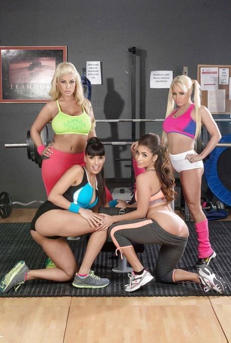 Four hot babes including pornstars Bridgette B and Isabella De Santos