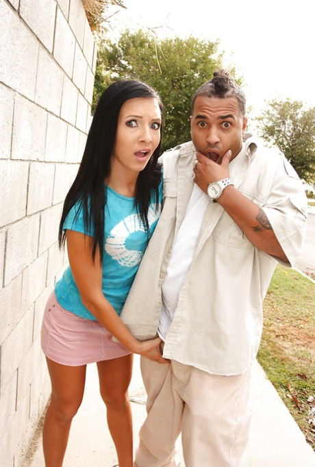 Lusty Ashli Orion fucks a big cock in interracial sex with bukkake