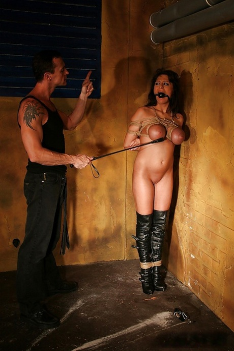 Bound babe with big tits Alison Star gets tortured and fucked
