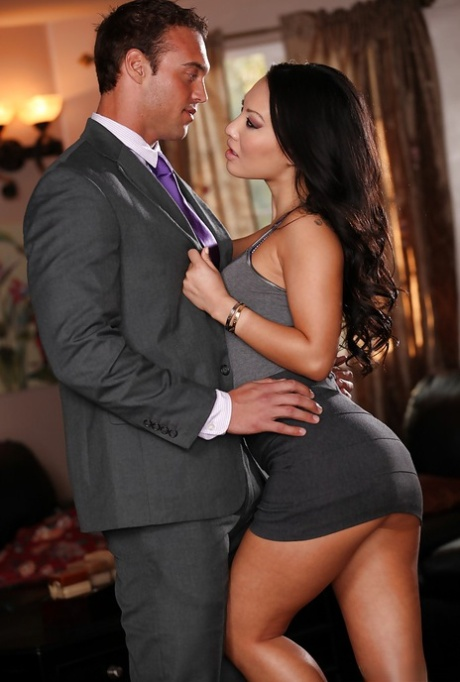 Adorable asian pornstar with amazing ass Asa Akira gets pounded hardcore
