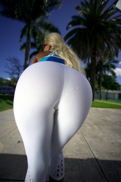 Hot Blonde Milf Yoga Pants
