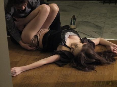 Asian sweetie Akari Asayiri gives fellatio before impressive intercourse