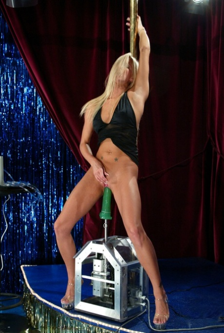 Sexy Legs Strip Tease Watch Blond Solo Babe Barbara