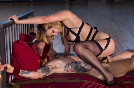 Blonde mistress Madeline Marlowe gets fucked hard & creampied by her male sub
